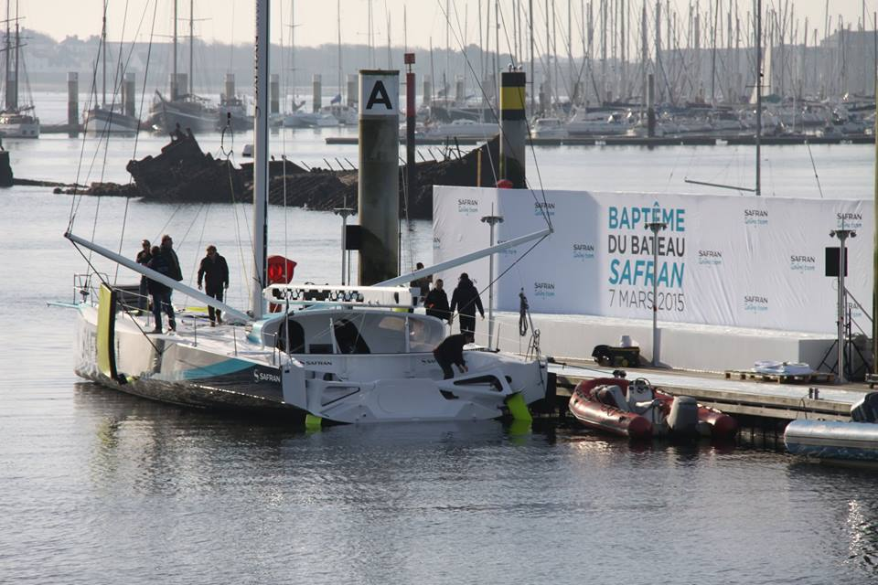 inauguration du monocoque Safran au port de Lorient La Base