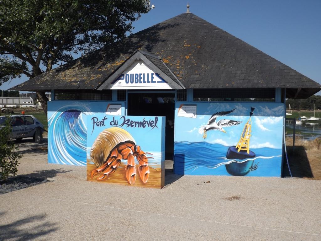Kernevel, port, fresque, KAZ