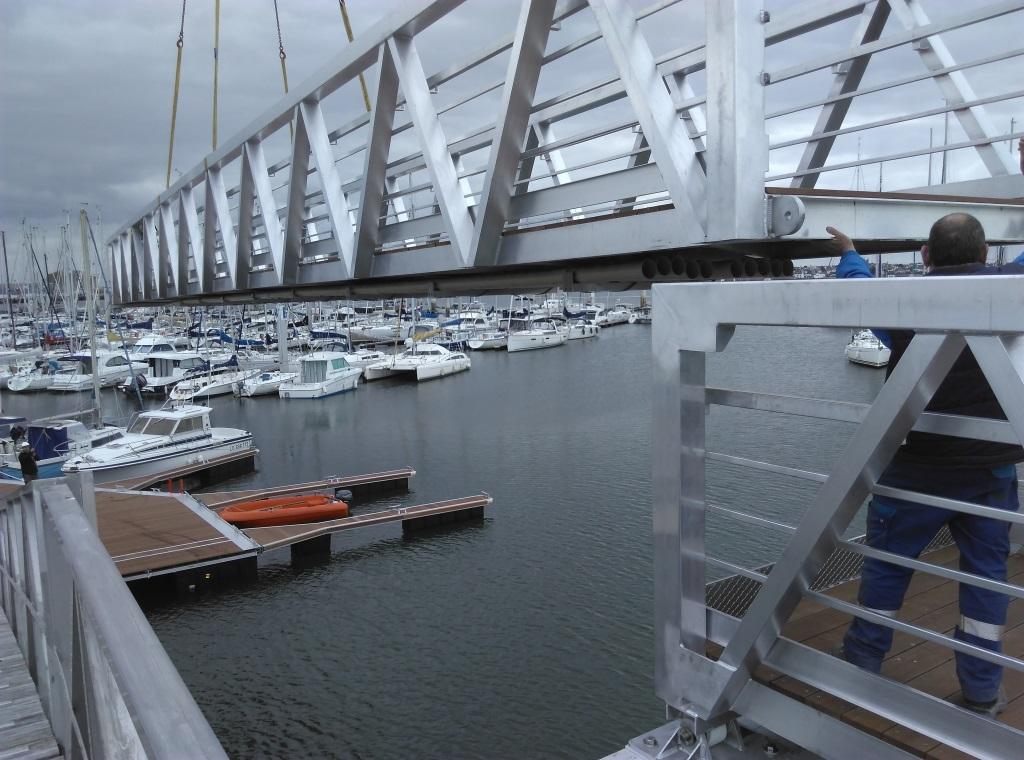 port Kernével, pontons, travaux