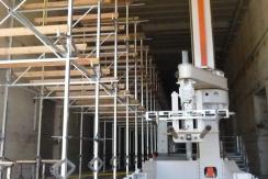Montage des racks sur le port à sec de Lorient